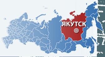 Якутия на карте России